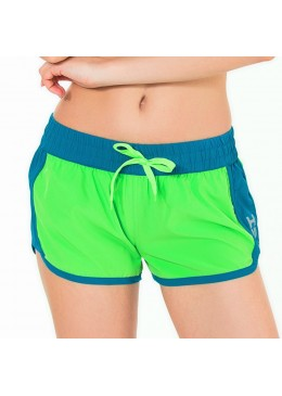 Short HOT CRUSH Femme Lime / Saphir pour la pratique du surf