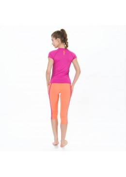 Top lycra zip  SIRENE Women Pink for surfing