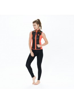 SKIN vest Neoprene 2 MM Woman orange and black for surfer user