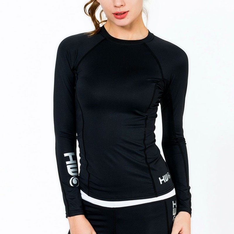 Lycra manches longues surf BETTY TOP -  Black