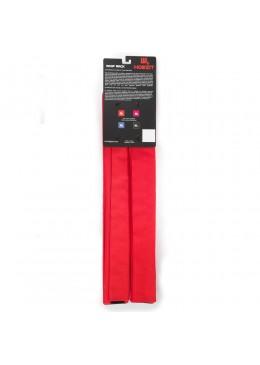 Paire de mousses de protection rouge de 74 cm pour les barres de toit profilées pour Paddle, longboard, surf et kayak