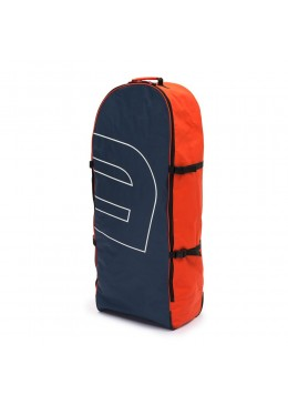 Sac de transport navy et orange à roulettes pour paddle gonflable ou kite surf