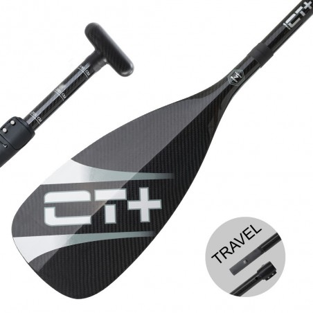 SUP Paddle CT+ COLOR II Travel Vario 3 parts Black new model 2018
