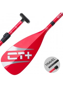 SUP Paddle CT+ COLOR II Travel Vario 3 parts red new model 2018