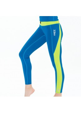 Women Legging DHARMA TIGHT - Lycra Saphir / Lime