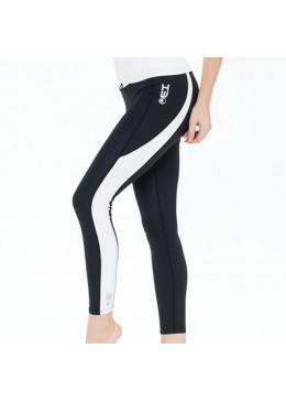 legging en lycra noir pour la pratique du fitness, yoga, surf et paddle