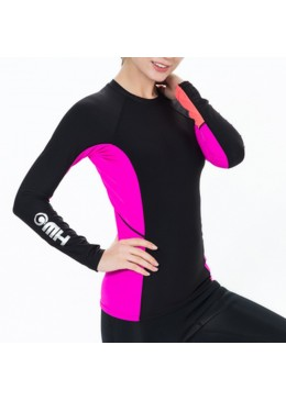 Lycra Polar women Warm tee Black / Pink