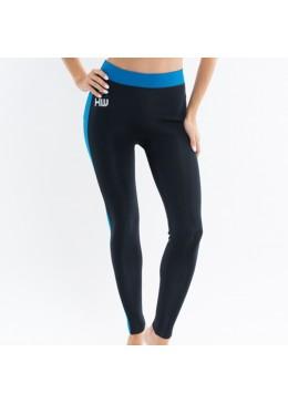 Pantalon Néoprène Femme Saphir / Black pour la pratique du surf, longboard et paddle