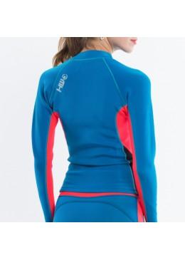 Jacket LUNA Néoprene Woman Néon / Saphir