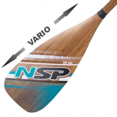 Pagaie NSP Carbon Bamboo Vario 86 in²