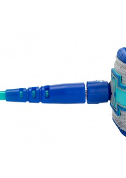 Stand-up paddle and Longboard leash 10' navy and grey