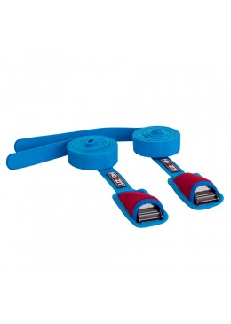 Pair of 10' aqua tie down with non-return buckle for carrying 1 to 2 SUP boards or 2 to 3 Surf boards.