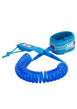 leash coiled 9' clear blue for stand up paddle