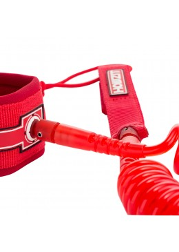 Leash Coiled SUP 9' - Clear Red