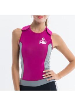 longjohn féminin rose et gris  pour la pratique du paddle et du surf