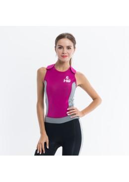 longjohn féminin rose et gris  pour la pratique du paddle