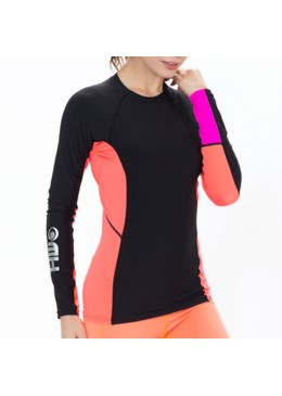 Lycra Polar Women Warm Tee Black / Néon