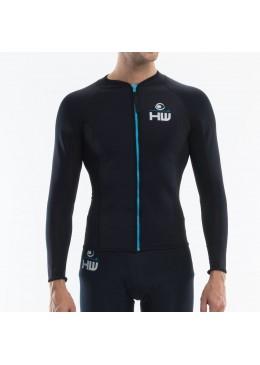 Veste Néoprène 1 mm fusion Homme Black pour la pratique du kitesurf, wakeboard, windsurf et surf