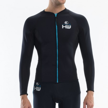 men Néoprène 1 mm fusion jacket Black for kitesurf, wakeboard, windsurf and surf using