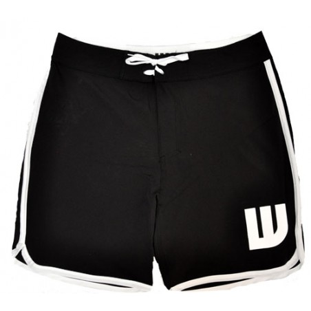 Boardshort long noir Homme