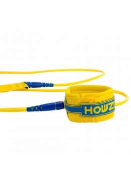 leash de paddle jaune 8'