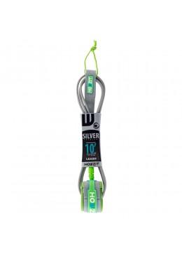 leash 10' gris et vert pour paddle et longboard