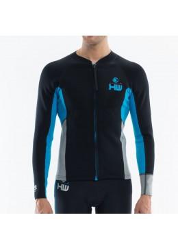 Man Jacket Neoprene  Black / Aqua