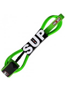 Stand-up paddle 8' lime straight leash