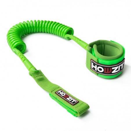 leash téléphone 9' vert pour paddle