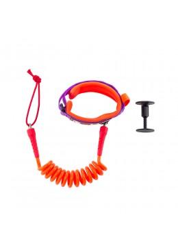 Bodyboard Leash 4' Biceps orange and purple