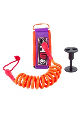 Leash Bodyboard 4' Biceps orange et violet