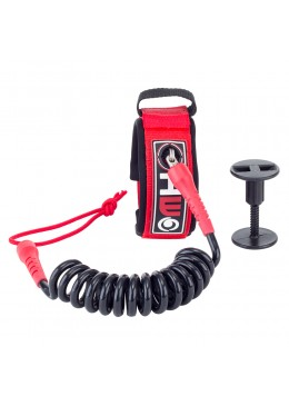 Bodyboard Leash 4' Biceps red and black
