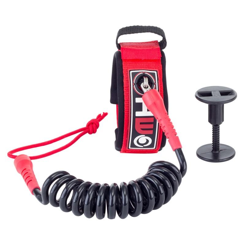 Bodyboard Leash 4' Biceps red and black