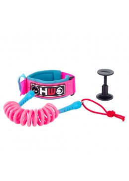Pink and blue 4' bodyboard biceps leash