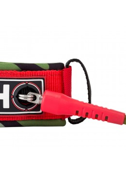 Leash Bodyboard 4'  Premium - Biceps - Camo/Red