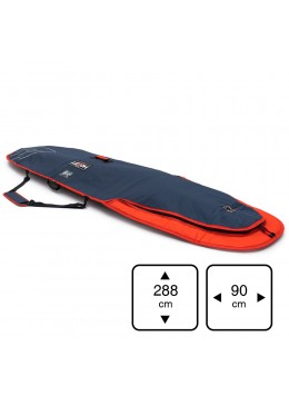 Housse de transport motif navy et orange pour stand-up paddle 9'