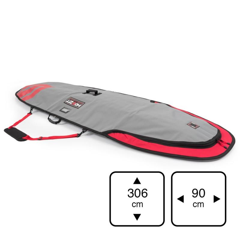 Boardbag 9'6 grey/red