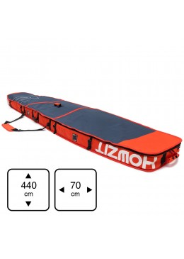 Housse de transport motif navy et orange pour stand-up paddle race 14'