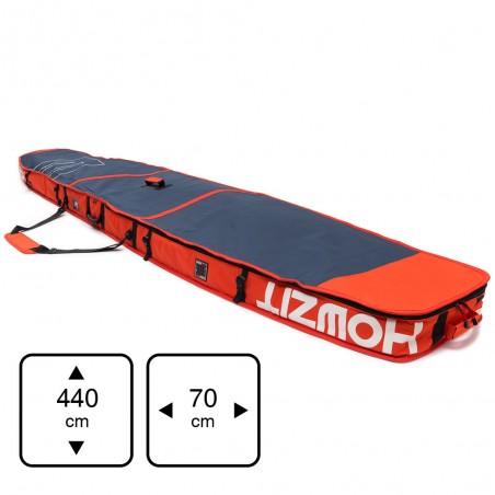 Housse de transport motif navy et orange pour stand-up paddle race 14'