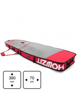 Housse de transport motif gris et rouge pour stand-up paddle race 12'6
