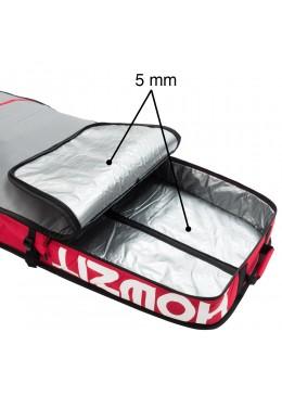 Housse de transport motif gris et rouge pour stand-up paddle race 12'6