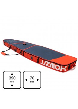 Housse de transport motif navy et orange pour stand-up paddle race 12'6