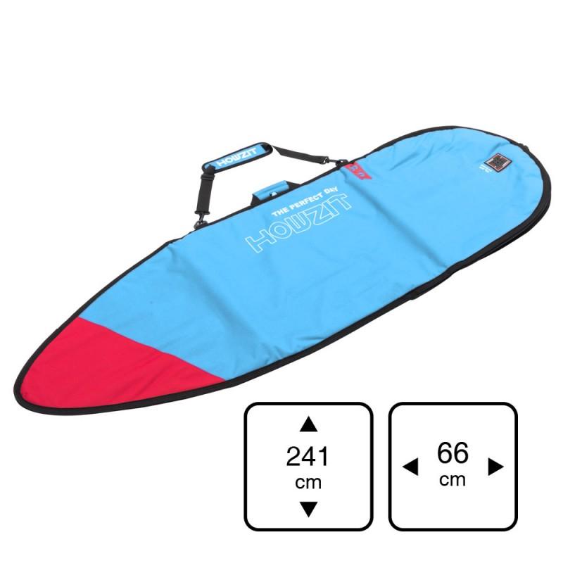 Housse bleu et rouge pour surf funboard 7'6