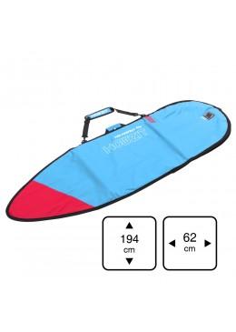Housse bleu et rouge pour surf shortboard 6'
