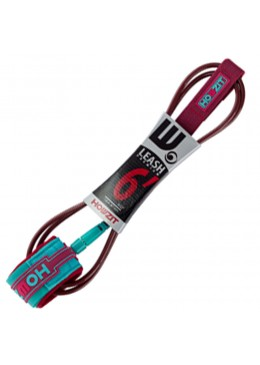 Leash Premium SURF  6' / 7 MM - Burgundy