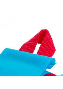 leash droit 8' rouge et bleu pour paddle