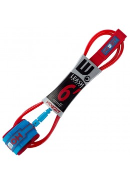 leash straight 6' red blue for surf