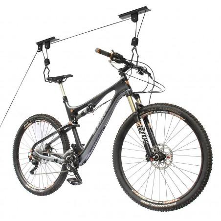 ce système Lift vous permet de stocker au plafond votre vélo