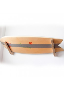 Support mural en bois pour planche de Surf ou Longboard