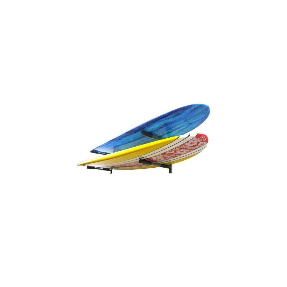 Double rack horizontal pour le stockage de planches de surf